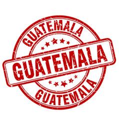Guatemala red grunge round vintage rubber stamp vector