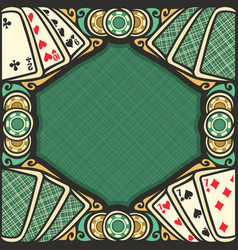 Poster for blackjack vector