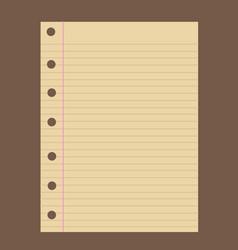 Notebook paper vector