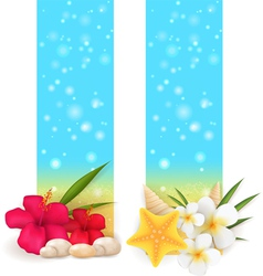 Summer vertical banners vector