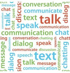Communication text seamless pattern vector