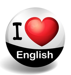 I love english on the badge vector