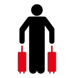 Passenger luggage flat icon vector