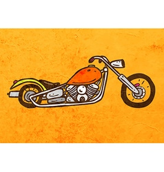 Motorbike cartoon vector