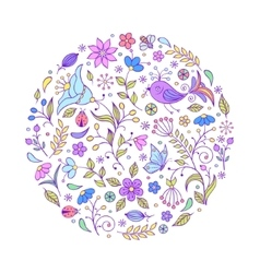 hand drawn colorful pattern vector image