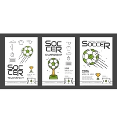 Soccer championship posters vector