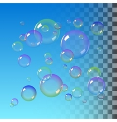 Color soap bubbles vector