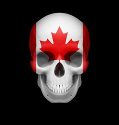 Canadian flag skull vector