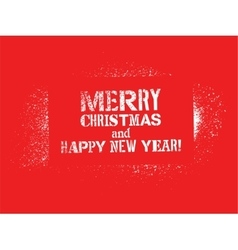 Typographic christmas card design vector