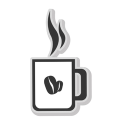 Delicious and fresh coffee isolated icon vector