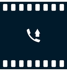 Flat paper cut style icon of out-coming call vector