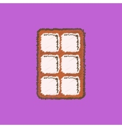 Black icon on white background biscuits vector