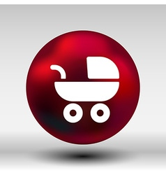 Baby stroller icon maternity wheel born pram vector