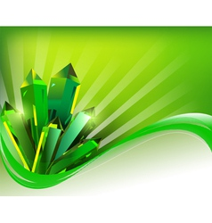 background transparent green mineral crystals vector image vector image