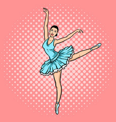 Ballet dancer pop art style vector
