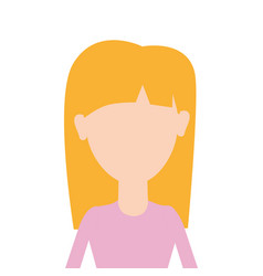 Beauty woman with hairstyle and blouse cloth vector