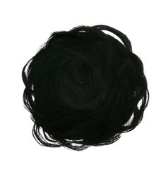 Black yarn ball background vector