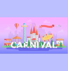 Carnival - modern banner vector