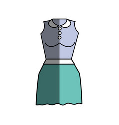 Casual blouse and short skirt cloth vector
