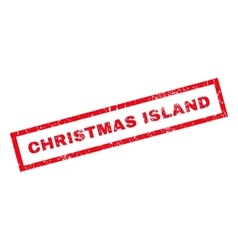 Christmas island rubber stamp vector