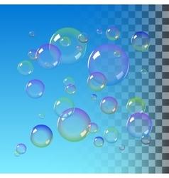 Color Soap bubbles vector image vector image