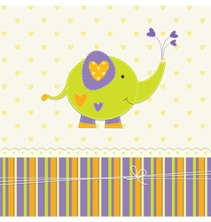 Cute baby background with elephant vector