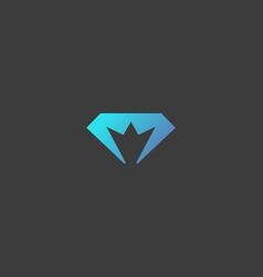 diamond crown logotype gem king royal logo vector image vector image