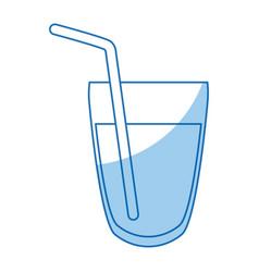 Glass water beverage fresh straw detox vector