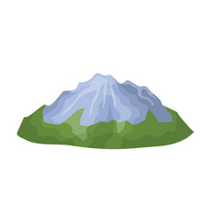 Green mountainsmountain with snowdifferent vector