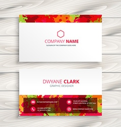 Grunge style business card vector