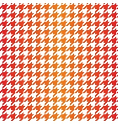 Houndstooth seamless red orange yellow pattern vector image vector image