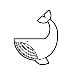 Humpback whale isolated icon vector
