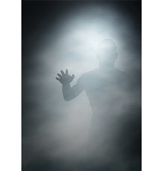 Man in fog vector image
