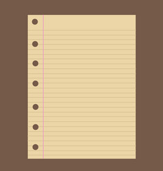 Notebook paper vector