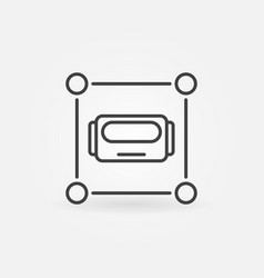 robot head in square icon or symbol in thin vector image