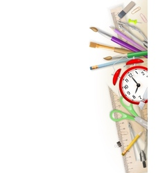 School and office supplies EPS 10 vector image vector image