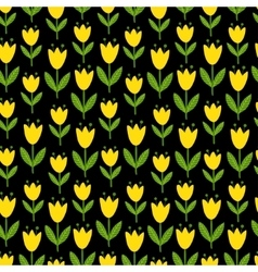 seamless with yellow tulips vector image vector image