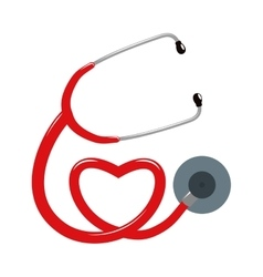 Stethoscope and heart icon Medical and Health vector image