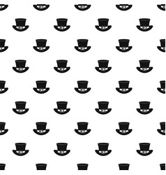Top hat with buckle pattern vector