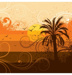 tropical palm tree background vector image vector image