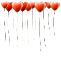 Valentines day background with heart balloons vector image