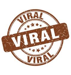 Viral brown grunge stamp vector