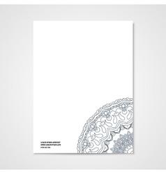 Graphic design letterhead with hand drawn ornament vector