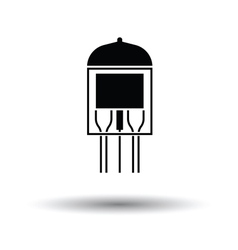 Electronic vacuum tube icon vector image