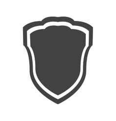 Shield protection insignia security guard banner vector