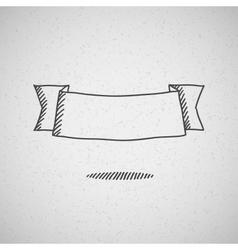 hand drawn ribbon vector image