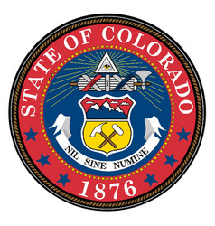 Colorado state seal vector