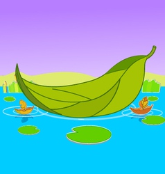 Boat leaf background vector