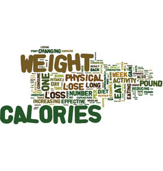 The most effective weight loss tips text vector