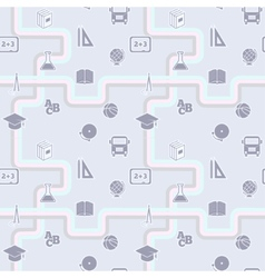 Education seamless school pattern vector